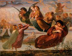 Louis Janmot : Le poème de l'âme, 1854 Anne-François-Louis Janmot (1814-1892) était un poète et peintre français. Il fut l'élève de Jean-Auguste-Dominique Ingres Poème 5 - Souvenir du ciel