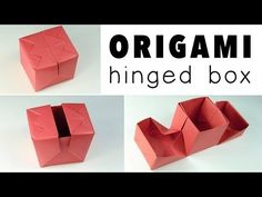Origami Hinged Gift Box Tutorial - YouTube