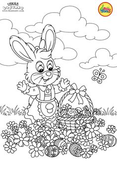 Free Easter Coloring Pages - Uskrs bojanke za djecu - Free printables, Easter bunny, eggs, chicks and more on BonTon TV - Coloring books Free Easter Coloring Pages, Quote Coloring Pages, Coloring Sheets For Kids, Easter Colouring, Free Printable Coloring Pages, Colouring Pages, Coloring Books, Free Printables, Easter Templates