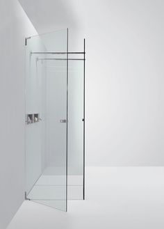 Agape, Type D Shower - Flat D system #agapedesign - Type D4P with two fixed walls and side door. Learn more on agapedesign.it
