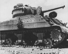 Clod hopper, an M4A3 or M4A2, on Iwo jima with the Marines, it was from C Company, 4th Marine Tank Battalion, and was taken out by a Japanese 47mm gun