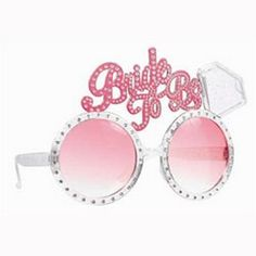 The Bride will love these fun novelty Pink Bling Bride to be Sunglasses! They're the perfect fun accessory for the Bachelorette Party! Bachelorette Party Supplies, Bachelorette Party Themes, Bachlorette Party, Theme Parties, Vegas Bachelorette, Wedding Parties, Party Stores, Party Shop, Hen Night Ideas