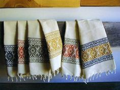 Hand woven kitchen towels - 100% cotton