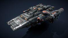"""ARGOS - Starship"" by / Geometry Triangles, Argos, Model, Image, Scale Model, Models, Argo, Template"
