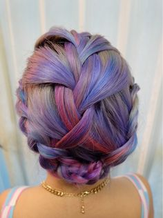 Sick braid tagged with #manicpanic! For these shades, try Lie Locks, Hot Hot Pink, and Electric Banana.