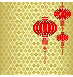 chinese red lanterns   Red chinese lantern vector art - Download Lantern vectors
