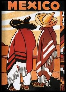 1930's Mexico Travel Poster   I LOVE this!