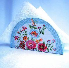 Držiak na servítky-Wendy / Parea - SAShE. Decoupage, Stencils, Folk, Coin Purse, Embroidery, Purses, Wallet, Handmade, Patterns