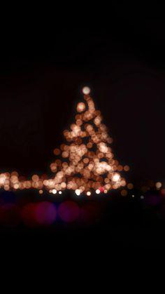 Christmas Lights Bokeh Love Dark Night iPhone 6 wallpaper