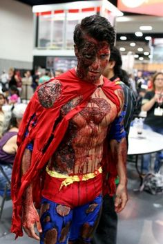 """Is it bad that I think there is something """"creepily"""" appealing about this image? I know it is probably supposed to be from Doomsday, Death of Superman… but all I see is Zombie Superman…."""
