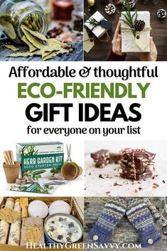 Find affordable eco-friendly gift ideas for everyone on your list! Check out dozens of savvy suggestions for great green gifts to make or buy. #gifts #ecofriendly #homemadegifts #giftideas #greengifts #sustainability #holiday #Christmas Sustainable Gifts, Sustainable Living, Green Living Tips, Herbal Magic, Diy Baby Gifts, Energy Conservation, Diy Presents, Green Gifts, Green Cleaning