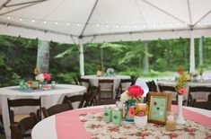 This is the tent at Hachland. Not sure if those are their chairs or if they are rented. [from the crazy, vintage, green wedding shoes wedding]