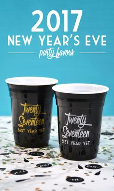 New Years party favors - I *need* these cups!