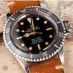 This one: Vintage Rolex 5512. #vrf #vintage #vintagerolex #vintagewatch #rolex www.bobswatches.com Gilt Dial #watchoftheday #mensfashion #vintagerolexforum #rolexwatch #etsy #christieswatches #sotheby #watchand