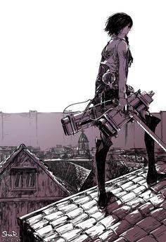 anime anime girls Shingeki no Kyojin Mikasa Ackerman