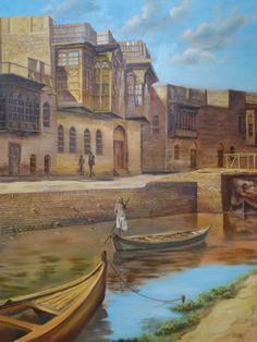 Khalid Almdellal Arabian Art, Blood Art, Romance Art, Art Optical, Sand Art, Baghdad, Drawing People, Italy Travel, Painting Inspiration
