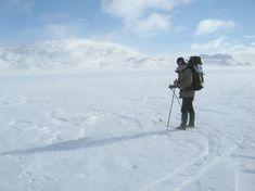 Paul Kirtley on skis in snowy mountain terrain, Norway