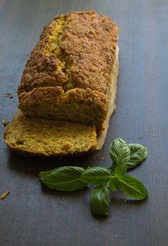 Pumpkin, honey & basil bread