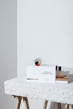 Visual identity and packaging commissioned by Danish perfume creator Zarko Perfume for the new unisex Cloud Collection fragrance. Handmade & bottled in Denmark. Art direction, design and packaging by Homework. © zarkoperfume.com