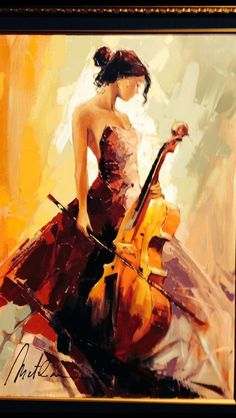Oil painting - the living art! Music Painting, Art Music, Painting Art, Cello Art, Fantastic Art, Pictures To Paint, Beautiful Paintings, Artist Art, Figurative Art
