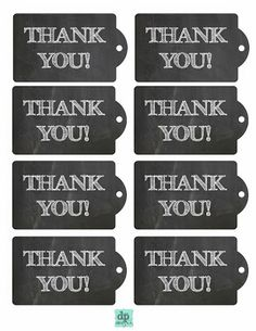 Free printable chalkboard style thank you gift tags which you can ...