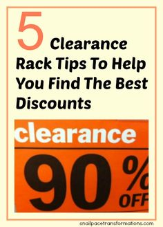5 clearance rack tips. Amen! I do the same. Takes time and patience,  but it is well worth it! Treasure hunt. ☆