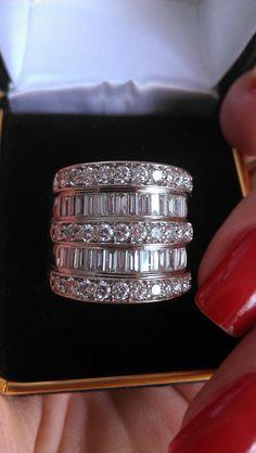Gorgeous 14k Gold 3.50ct Baguette Diamond by MADAMECKERSON, $5999.00