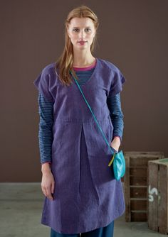 Dress in linen & cotton – Weaves – GUDRUN SJÖDÉN – Webshop, mail order and boutiques | Colourful clothes and home textiles in natural materials.
