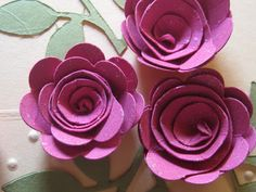 Scallop Circle 3D flower- 1 layer spiral rose