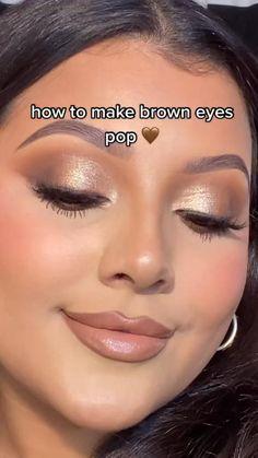 Simple Eye Makeup, Natural Eye Makeup, Blue Eye Makeup, Makeup For Brown Eyes, Skin Makeup, Makeup Art, Makeup Inspo, Contour Makeup, Brown Eyeshadow Looks