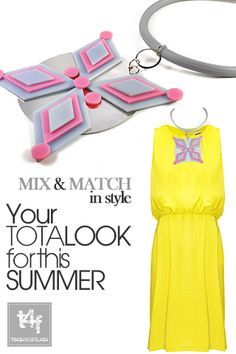 MIX & MATCH IN STYLE WITH T4F JEWELLERY!  Reach for the stars on a Greek island with a marvelous night outfit and let your inner Goddess glow!      ( Dress by #whistles  – Necklace by #trash4flash )  #springsummer2013 #fashionjewellery #statementnecklace #greekisland