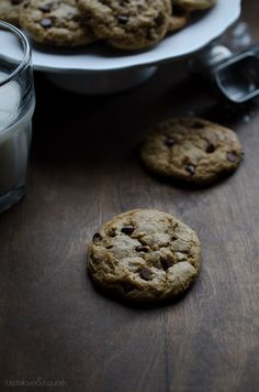 The Most Amazing Soft-Baked Vegan Chocolate Chip Cookies - seriously the best chocolate chip cookies I've ever made, vegan or not! | From @tasteLUVnourish on www.tasteloveandnourish.com @MeltOrganic