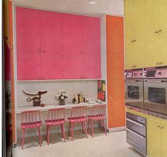 Mid Century - Pink and orange and yellow and yummy! | Flickr - Photo Sharing!