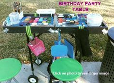 my dream face paint table