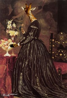 Animal Renaissance - Worth1000 Contests.    Leighton- Mrs Giraffe