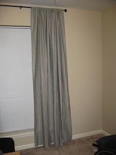 Curtains from wal-mart twin flat sheets.  Cheap!