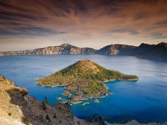 Formed after the collapse of Mount Mazama around 7,000 years ago, Crater Lake is the well-deserving namesake of Crater Lake National Park in Oregon. Reaching more than 1,900 feet at its deepest point, this is the deepest lake in the United States and the ninth deepest in the world.