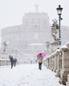 Roma nevicata febbraio 2018