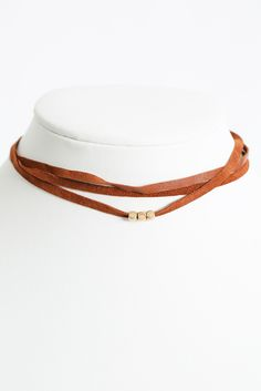South Moon Under Tan Multi Strand Choker Necklace | South Moon Under