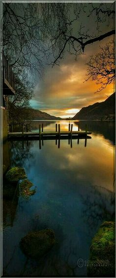Ullswater boat house in lake district national park, England