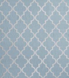 Home Decor Print Fabric-Eaton Square Abridge Spa Blue