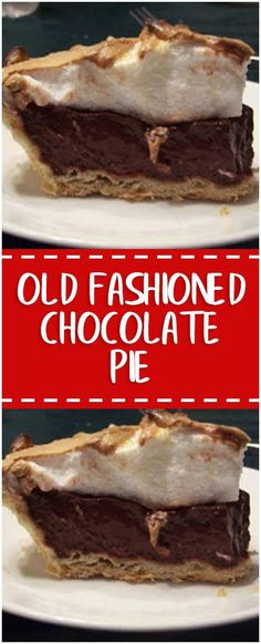 Old fashioned chocolate pie – Fresh Family Recipes