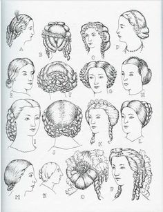 Victorian ladies valued their hair as one of their most prized possessions. So hairstyles back then were usually very complicated, thick, sometimes even curly  and were done in intricate styles. This is when  bangs were in style.