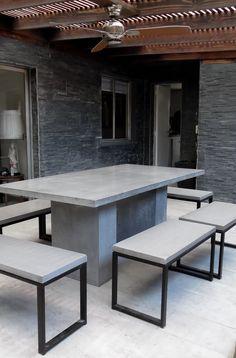 Quinchos y Muebles de Hormigón armado con terminación en microcemento