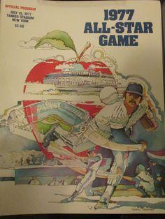 Official 1977 All Star Game Program Yankee Stadium July 19,1977 Baseball Sports Program by AuctionAddict38 on Etsy