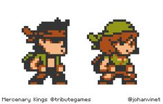 Mercenary Kings on the NeoGeo Pocket? Nope (sadly), just a little tribute… oh wait… to TRIBUTE GAMES to celebrate the final release of MERCENARY KINGS ON STEAM! GO BUY AND PLAY THAT GAME!(Yeah I know, they still need weapons in their hands ^^').
