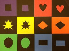 Collage with Positive and Negative Shapes