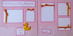 20 BABY GIRL Scrapbook Pages for 12x12 FiRsT YeAr by JourneysOfJoy