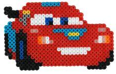 McQueen Disney Cars Hama beads - 7988 HAMA Hama Beads Design, Hama Beads Patterns, Beading Patterns, Hama Disney, Iron Beads, Melting Beads, Pearler Beads, Disney Cars, Loom Beading