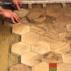 Fitting Hexagon Wood Tiles floors - hexagon parquet floor